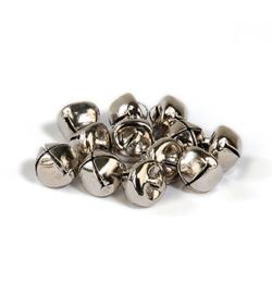 Belletjes zilverkleurig 10mm - 12 stuks - mooie kwaliteit