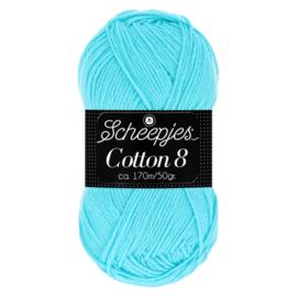 Cotton 8 Scheepjes 622 Licht Turquoise