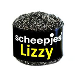 Scheepjes Lizzy zwart 011 Zilverwit grijs