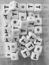 Letterkraal acryl wit T