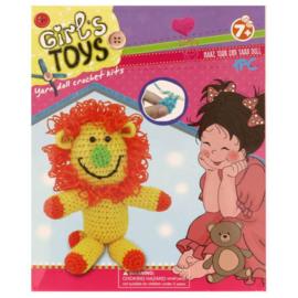 Haakpakket voor kinderen Leeuw