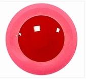 Veiligheidsoogjes Roze met rode pupil 6 mm