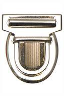 Metalen tas sluiting zilverkleurig ca. 43x53