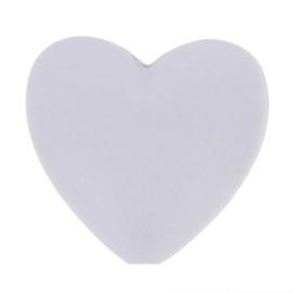 Opry siliconen kralen hartjes 5 stuks kleur 006