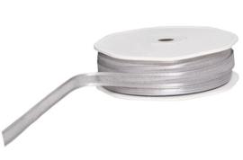 Organza lint Grijs/Zilver met Satijnrandjes