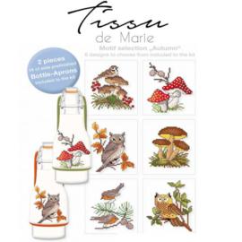 Flessenschort borduurpakket Tissu de marie - Herfst