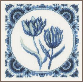 Borduurkit  Delftse tulpjes