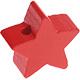 Houten kraal Mini-ster rood effen ''babyproof''