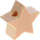 Houten kraal Mini-ster blank effen ''babyproof''