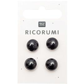 Ricorumi aannaaibare oogjes zwart groot 11mm