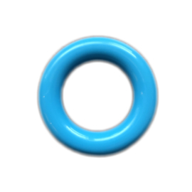 Plastic ringetje 35mm Blauw