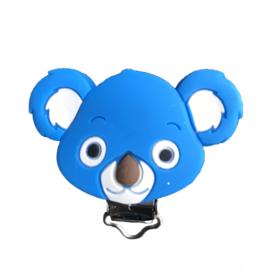 Siliconen speenclip Koala - Cobaltblauw