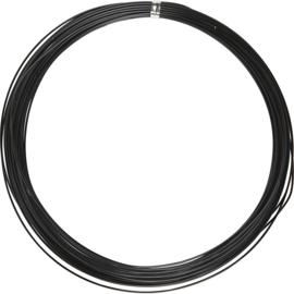 Alu draad - aluminium draad 1mm ZWART