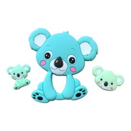 Siliconen kraal Koala zittend - Mint