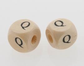 Letterkraal hout letter Q