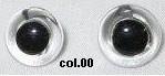 Oogjes wit/doorzichtig aannaaibaar 15 mm
