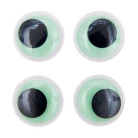 Rico fantasie wiebelogen oplichtend in donker zelfklevend - 35mm 4 ogen