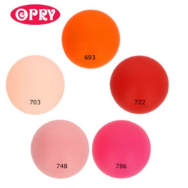 Opry Siliconen kralen 5 kralen van 15mm AST 2 -  5 kleuren