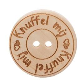 Durable houten knopen: Knuffel mij 30mm -2 stuks-