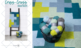 Criss-Cross Blanket Blue/Grey