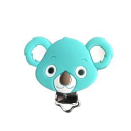 Siliconen speenclip Koala - Jadegroen