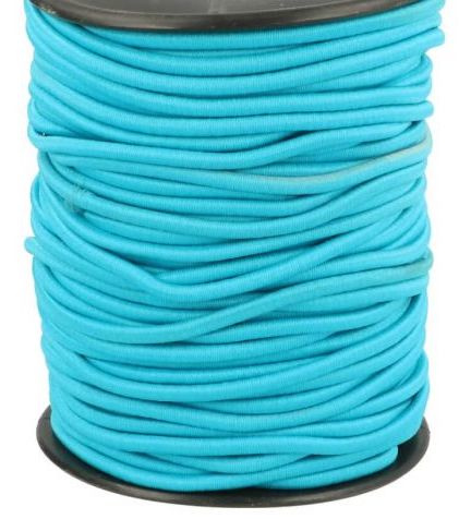 Koordelastiek 3mm Aquablauw
