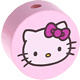 Houten kraal rond ''Hello Kitty'' babyroze ''babyproof''
