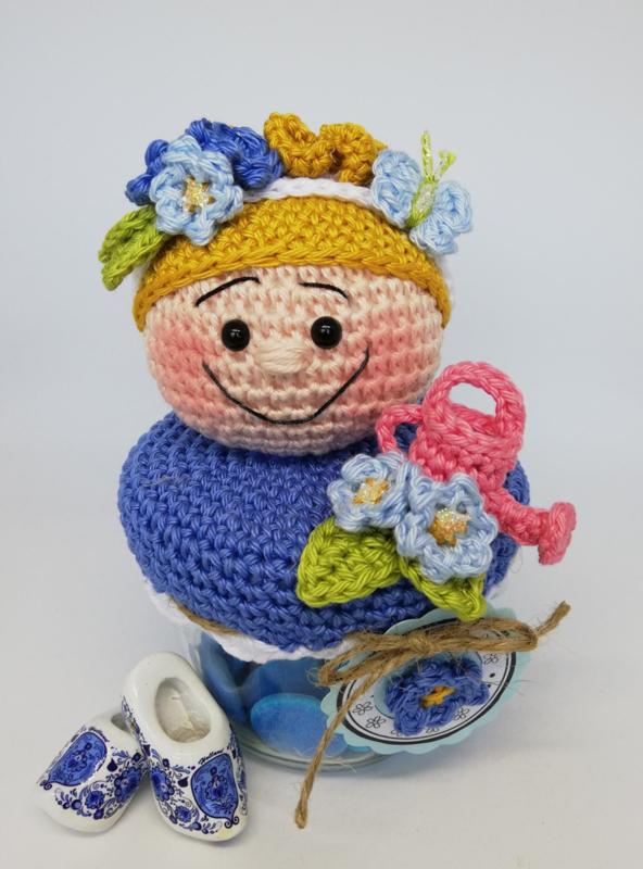 Garen en fournituren pakket Miss Fleur Bizzy Bee (het vergeet me nietje)
