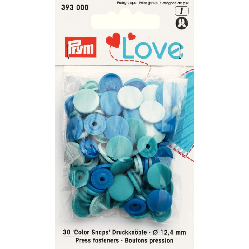 Color snaps -  Prym Love color rond 12,4mm blauw, jade en mint