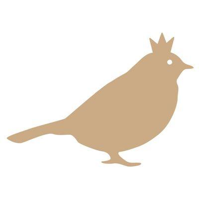 Lilian MDF 3mm Vogel