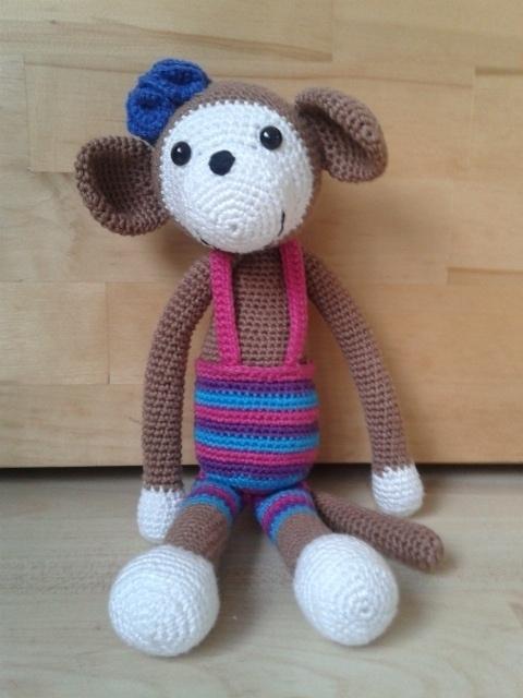 Prachtige aap van Erin een meisje van 9! jaar