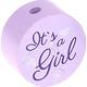 Houten kraal ''It's a Girl'' lila ''babyproof''