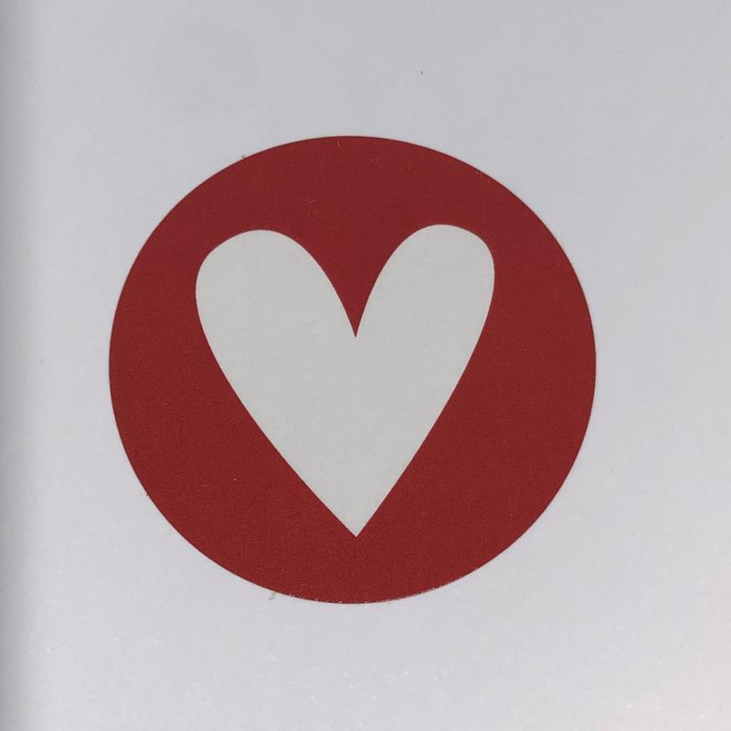 Kadosticker rood hartje 10 st