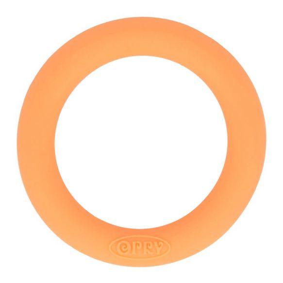 Opry siliconen bijtring 65mm kleur 704 Zacht oranje