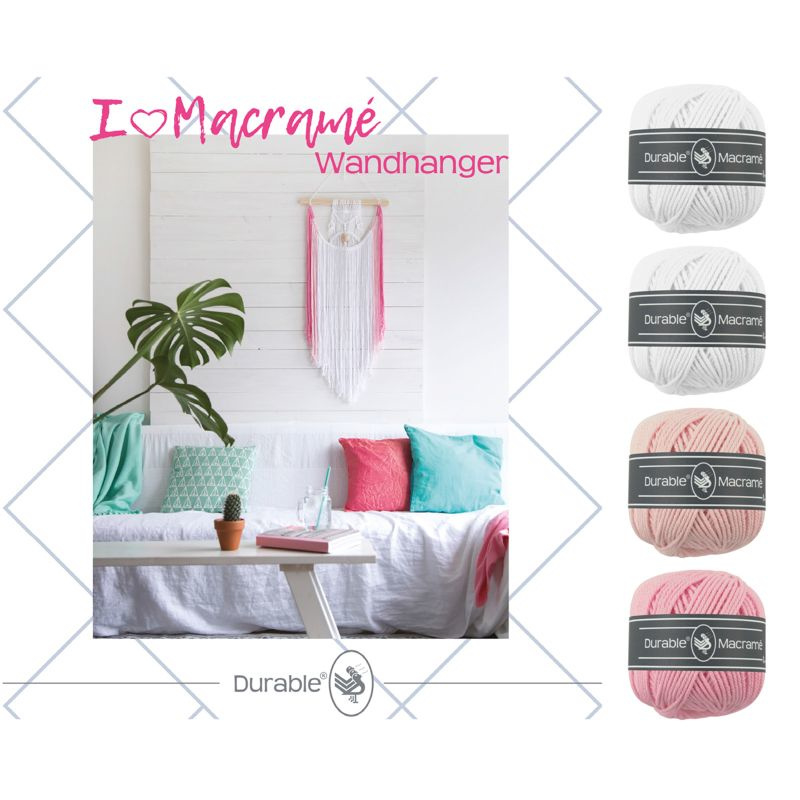 Durable Macramé pakket Wandhanger