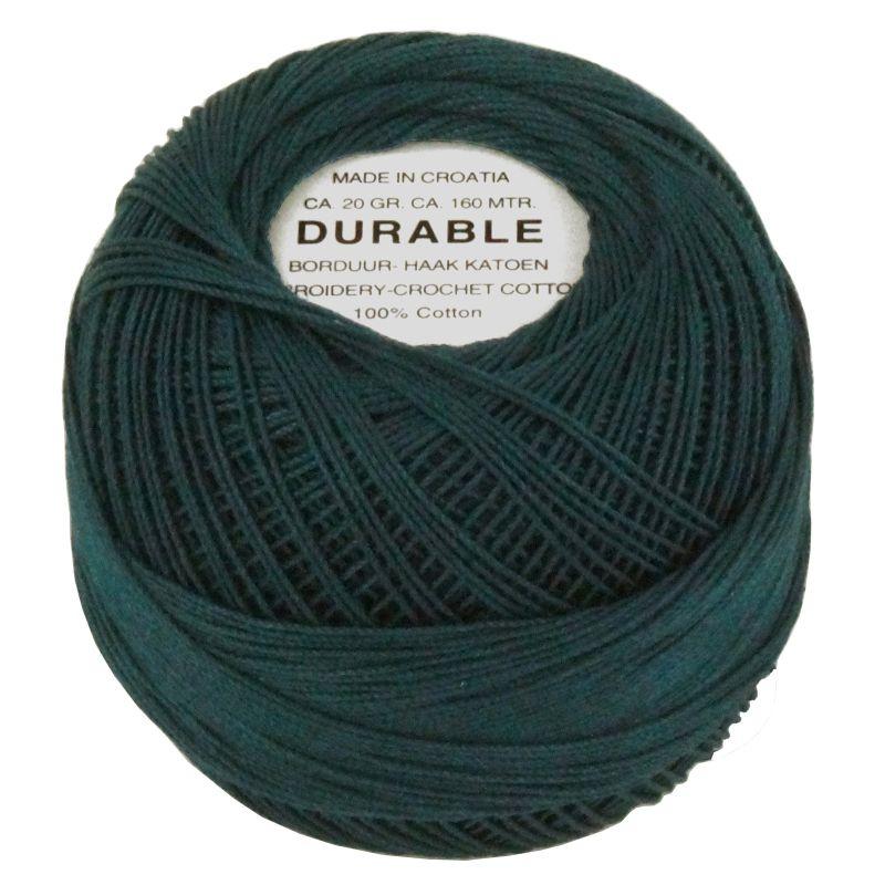 Durable borduur en haakkatoen Donkergroenblauw 1049
