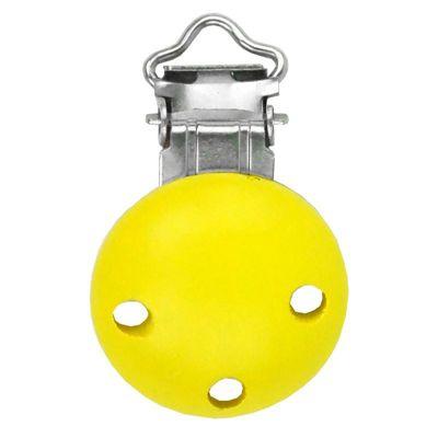 Houten speenclip Geel klein