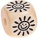 Houten Letterkraal gegraveerd 10mm -zon-