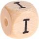 Houten Letterkraal gegraveerd 10mm  - I -