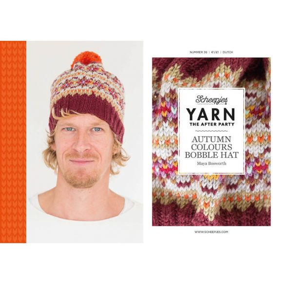 Yarn, the after party Patroon Autumn Bobble Hat nr 36
