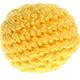 Gehaakte kralen met zachte vulling geel