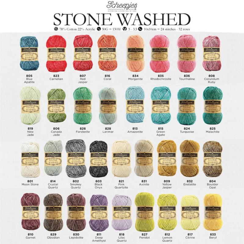 Alle 36  kleuren Stonewashed