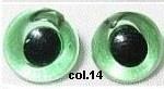 Oogjes Groen aannaaibaar 15 mm