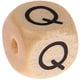Houten Letterkraal gegraveerd 10mm   - Q -