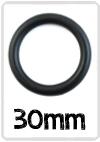 Ring Zwart nylon 30mm