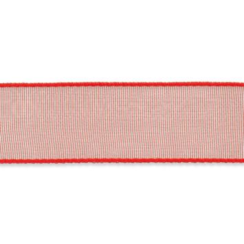 Organza lint 16mm breed Rood