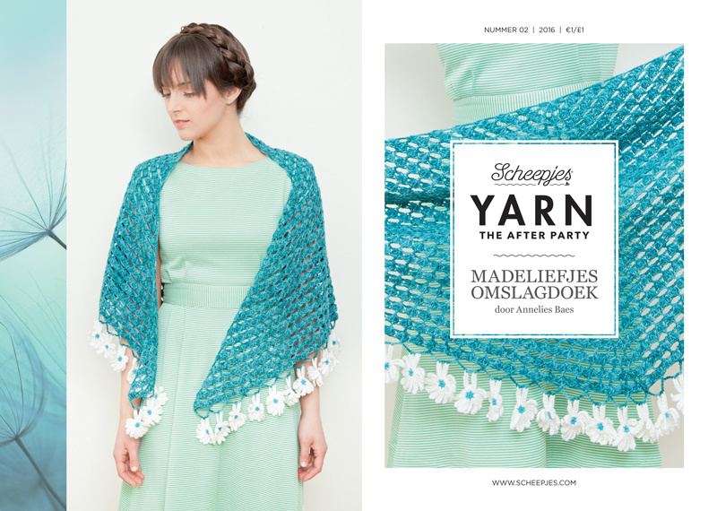 Yarn, the after party Patroon Madeliefjes Omslagdoek nr 2 (kooppatroon)