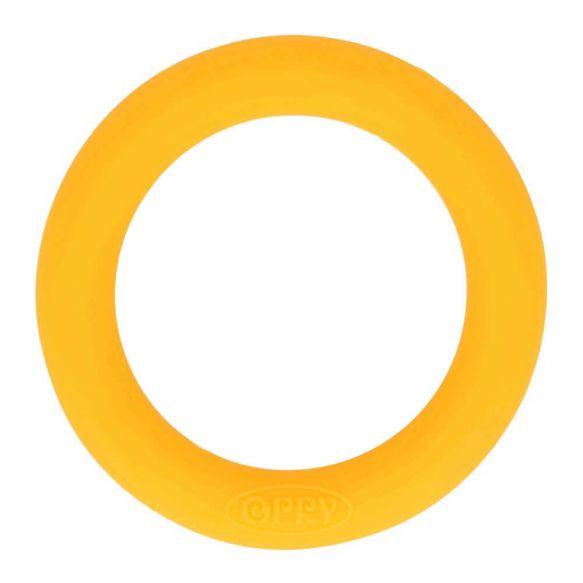 Opry siliconen bijtring 65mm kleur 645 Geel