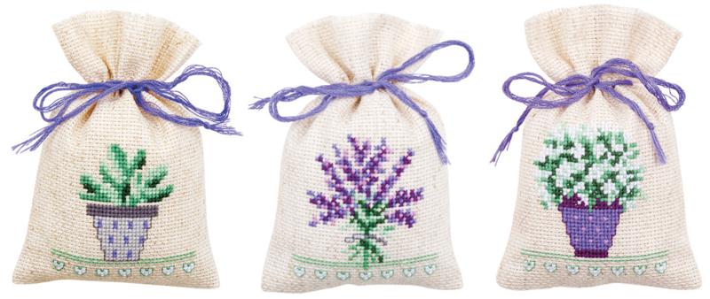 Geurzakje lavendel set van 3