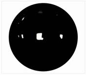Oogjes zwart aannaaibaar 6mm Glasogen